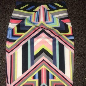 Stretch high waist skirt fits S:M